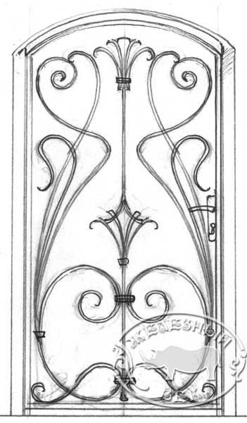 art nouveau metal screen - Google Search