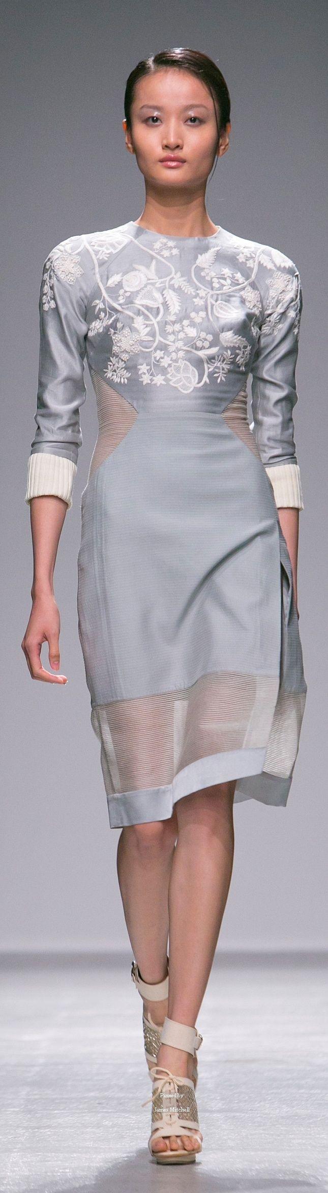 Farb- und Stilberatung mit www.farben-reich.com # Rahul Mishra Spring Summer 2015 Ready-To-Wear collection