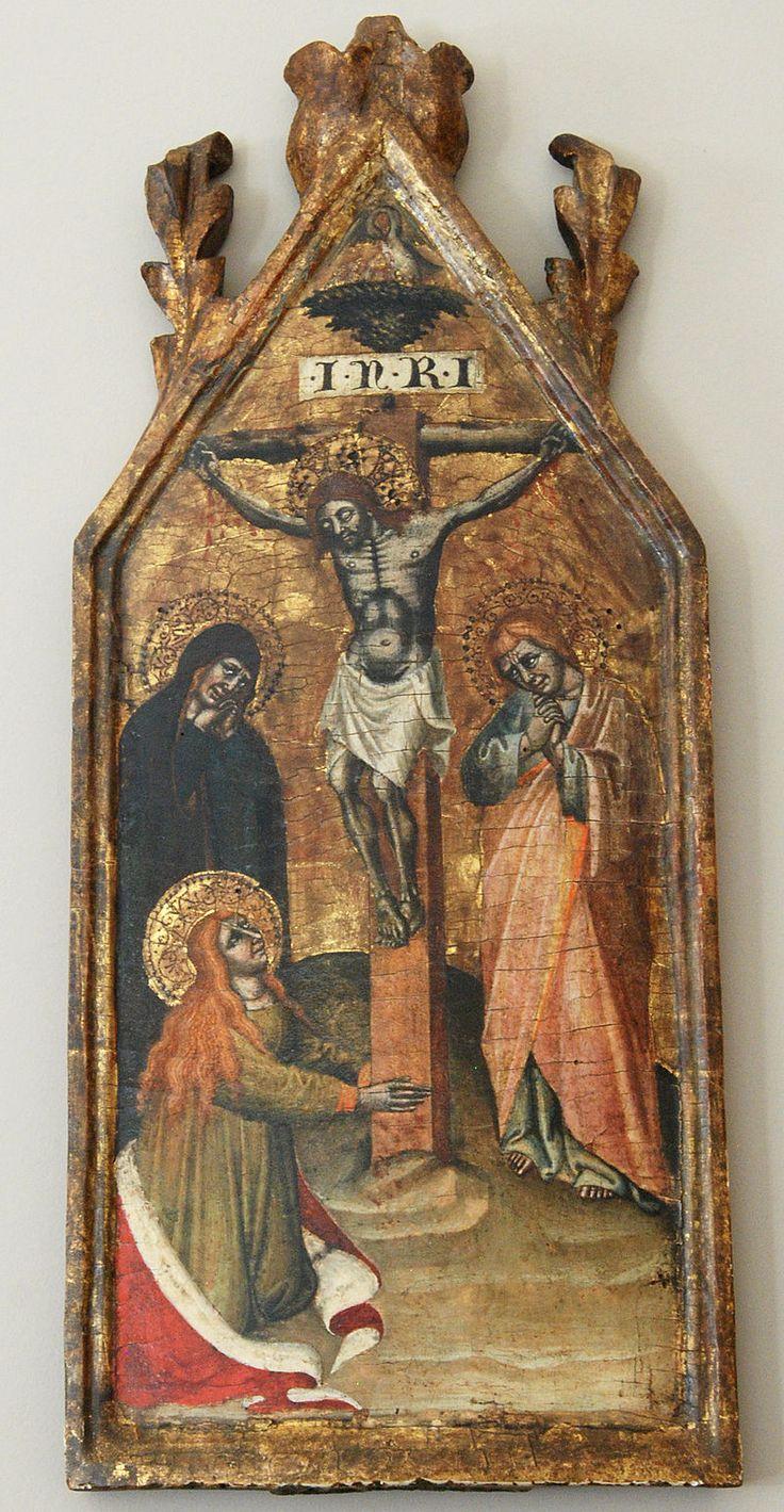 Simone di Filippo. Crocifissione, 1395-1399, tempera su tavola – Collezione privata, deposito presso i Musei civici d'arte antica di Bologna.