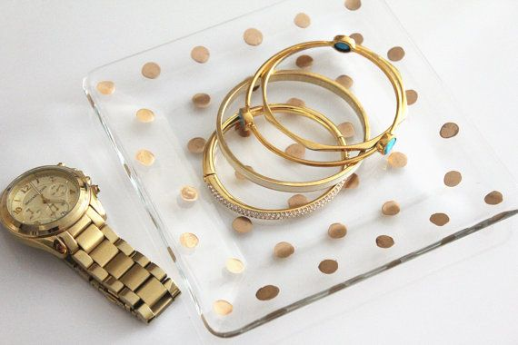 Gold Polka Dot tray