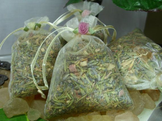 10 - HERBAL CLOSET & DRAWER Sachets - Fresh Herbal Fragrance - All Natural Moth and Insect Repellant. $20.00, via Etsy.