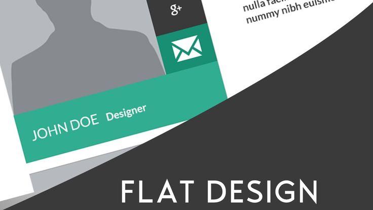 Flat Web Design | Photoshop CS6 | Speed Art