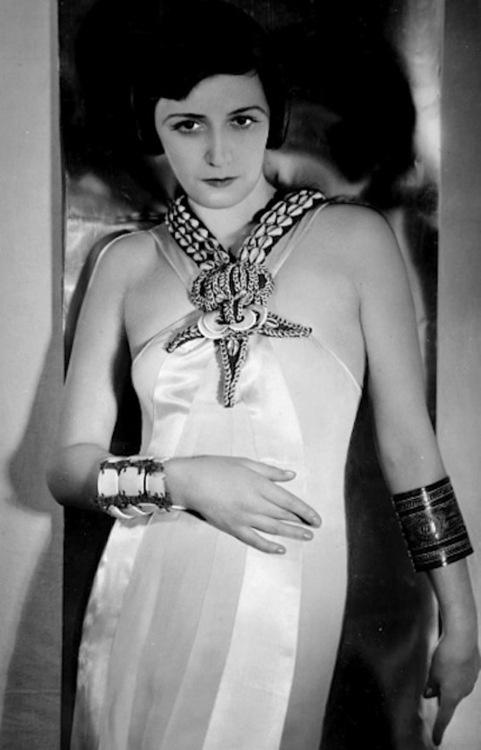 Photographer: Yva/Else Neulander - Portrait with jewellery, c1938.