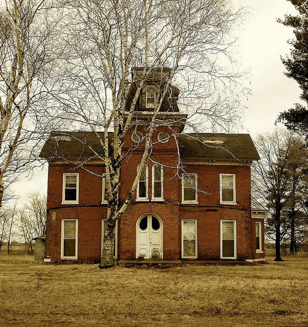 The Second Empire house abandoned on a busy crossroads (M60 & Calvin Center Rd), west of Vandalia, MichiganCommons Getty Collection Galleries World Map App ...