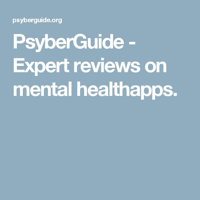 PsyberGuide - Expert reviews on mental healthapps.