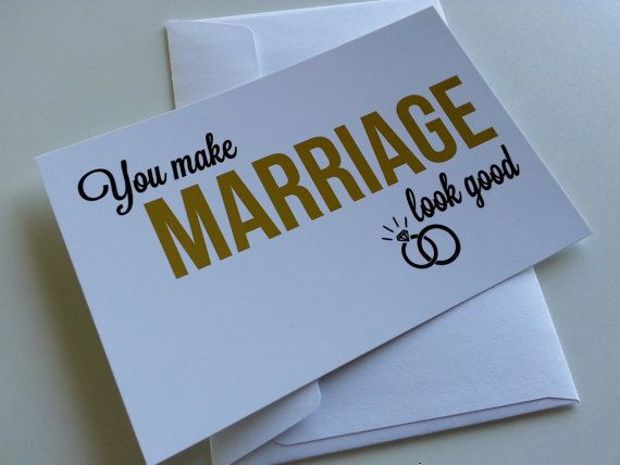 Wedding Congratulations Card You Make Marriage by DefineDesign11