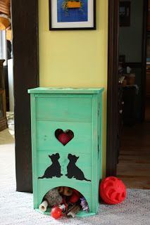 Love this Pup Toy Box. Getting toys out is self-serve and part of their play! | Sprinkled Blessings Studios
