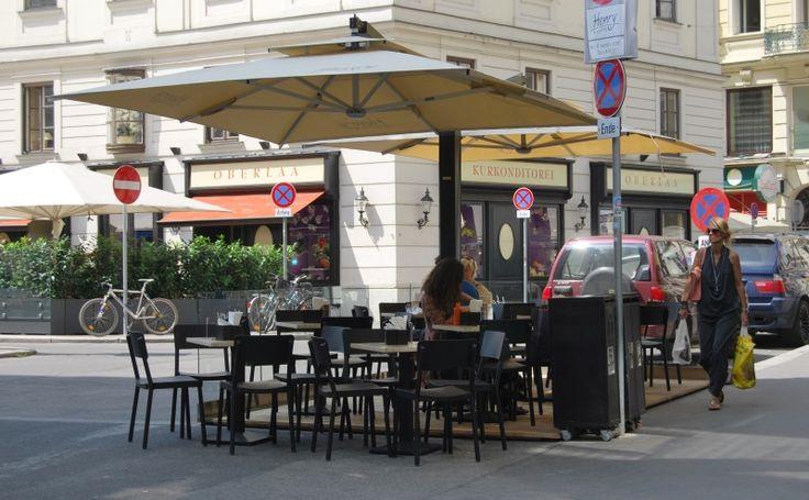 Solero Sonnenschirme Gastroschirme. Maßanfertigung Do & Co Wien