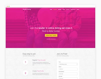 "Check out new work on my @Behance portfolio: ""Online Dating Website Templates - Wealth Landing Page"" http://be.net/gallery/44744851/Online-Dating-Website-Templates-Wealth-Landing-Page"