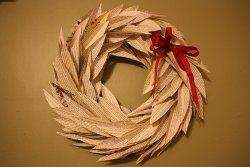 Book Leaf Wreath