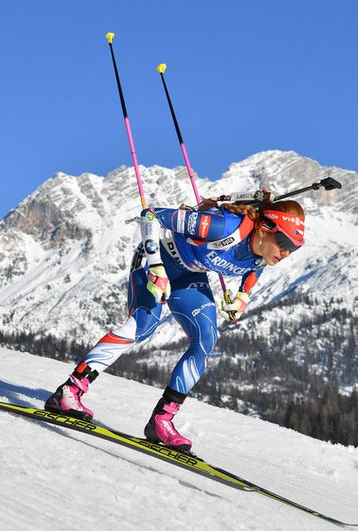 Czech Republic's Gabriela Koukalova competes during the 2017 IBU World Championships Biathlon Women's 7,5 km Sprint race in Hochfilzen, on 10 February, 2017. / AFP / APA / BARBARA GINDL / Austria OUT