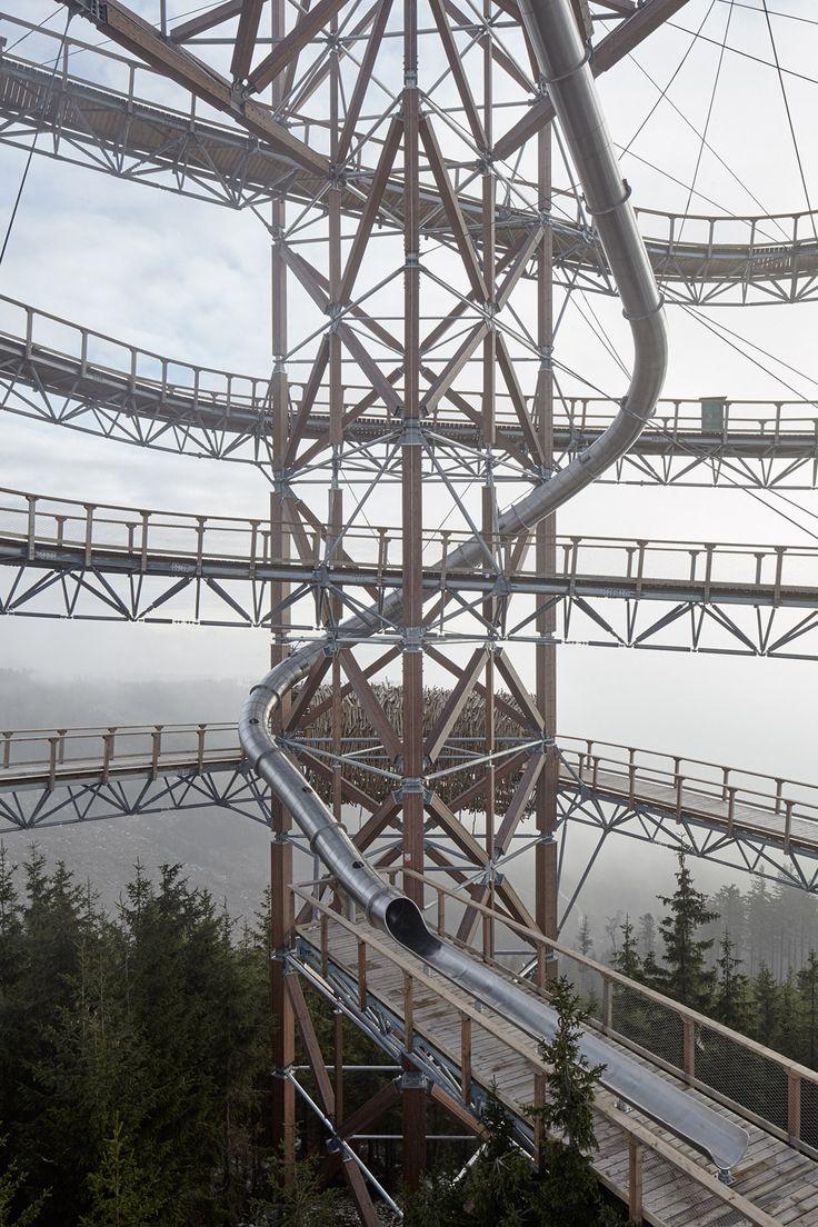 Fránek Architects' Sky Walk ramps around a giant slide