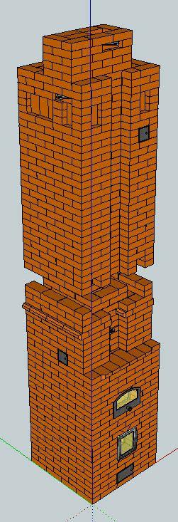 Печь отопительная ОИК ХК4-3 двухэтажная  |   Печи и камины своими руками