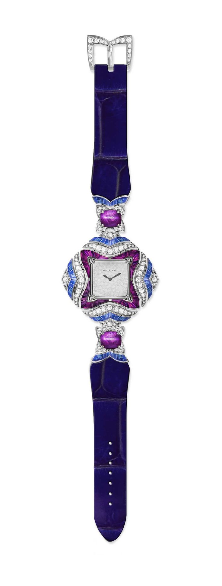 Bulgari Mvsa high jewellery watch with blue and pink sapphires and diamonds. ab7c5ab2a0