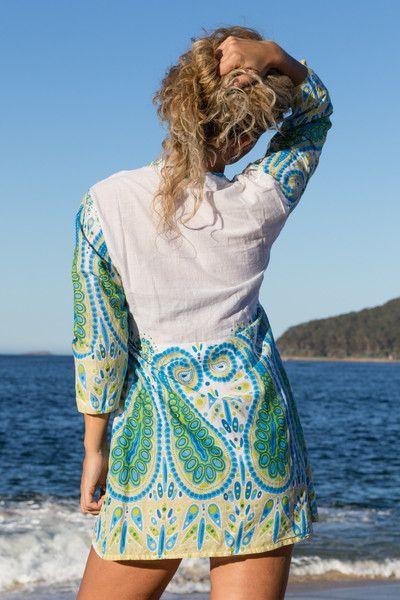 Ocean Blue Paisley Dress Shirt