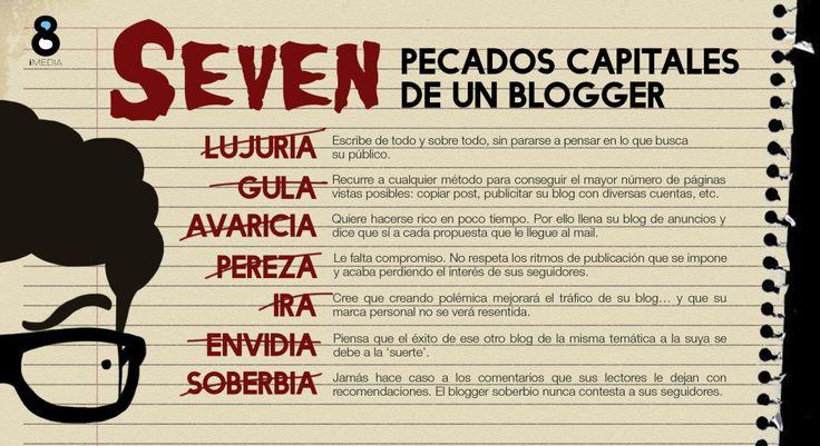 ¿Cuáles son los pecados capitales de un #blogger?