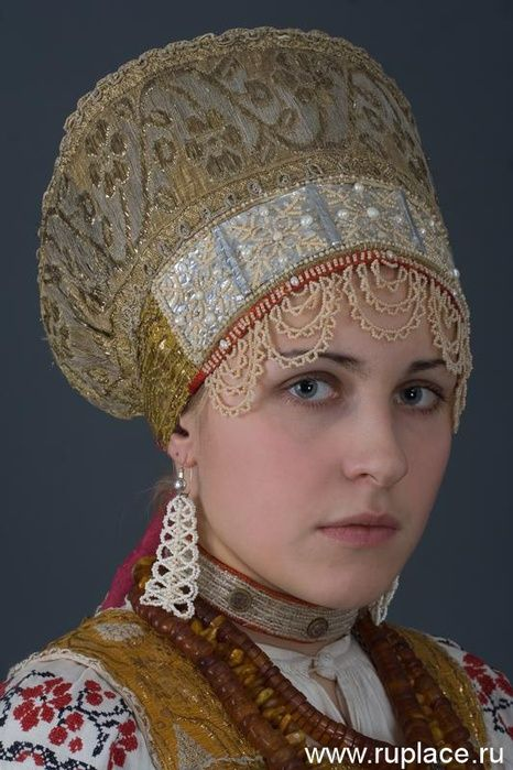 russian traditional clothing and hat