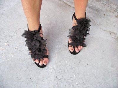 Ribbon heels DIY