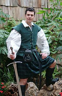 Scottish Rogue Garb: Renaissance Costumes, Medieval Clothing, Madrigal Costume: The Tudor Shoppe