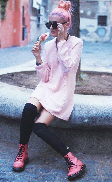 Pink ballerina topnots