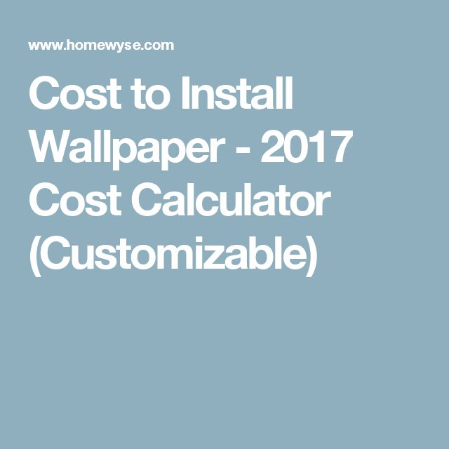 Cost to Install Wallpaper - 2017 Cost Calculator (Customizable)