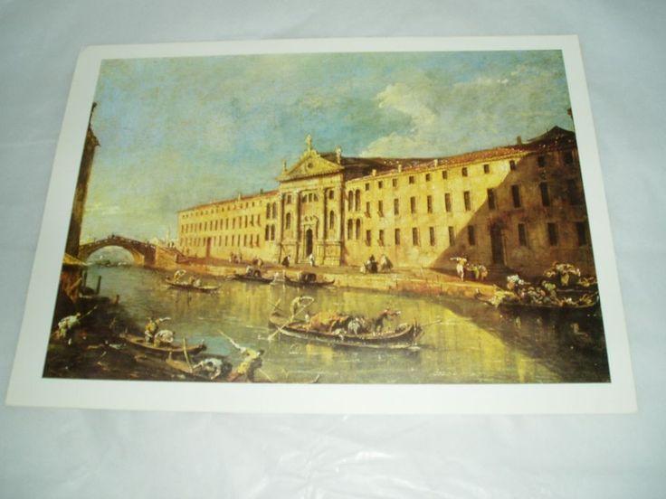 art print poster VIEW OF VENICE, FRANCESCO GUARDI 1793 #Realism