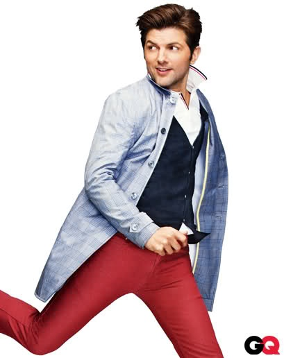 Adam Scott in those tight pants