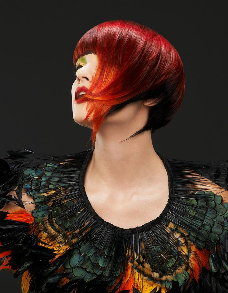 Stylist Greta Coston ignites her color talent to create Mayan Queens. Gorgeous, fire-y color design!