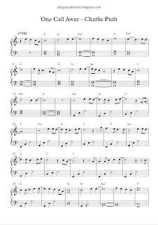 play popular music, One Call Away - Charlie Puth, free piano sheet music