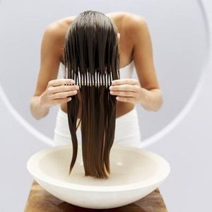 Once a week: Heat olive oil and honey to boil. cool then comb through your hair. This is supposed to help your hair grow faster and make it super smooth.. Need to try this.