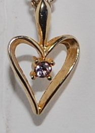 Lovely quality pendant in this Golden open heart diamondelle focal pendant necklace upcycled by silverwireandgems on Etsy
