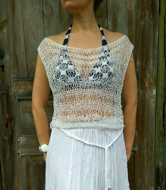 Check out this item in my Etsy shop https://www.etsy.com/ru/listing/528343589/linen-lase-knit-top-swimsuit-lase-cover