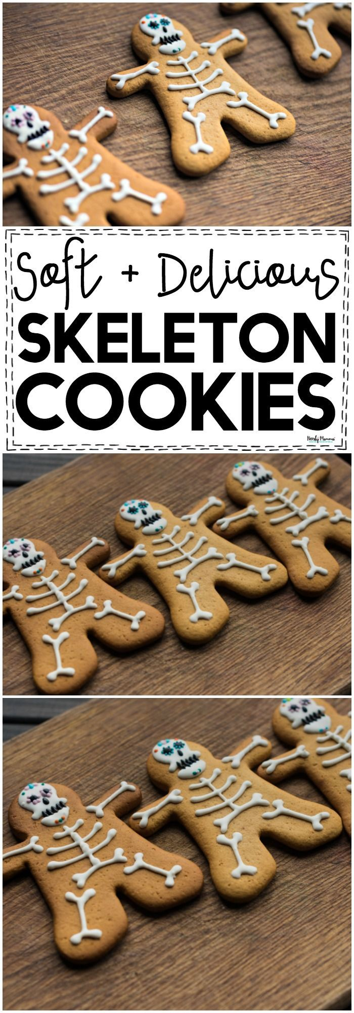 Ridiculously Soft & Delicious Skeleton Cookies! #gingerbread #skeleton #halloween
