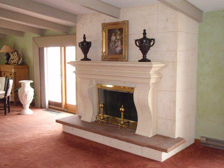 bellarosa fireplace mantel w custom legs and field faux stone apply around the mantel in littleton colorado