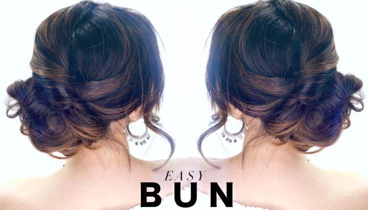 3-Minute Elegant SIDE BUN Hairstyle | Cute & Easy Updo