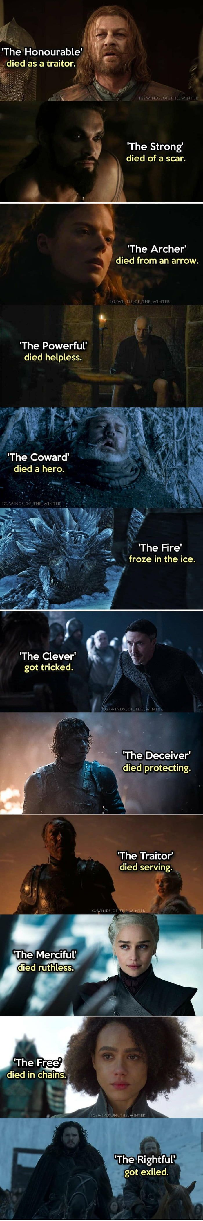 Oh Game Of Thrones.