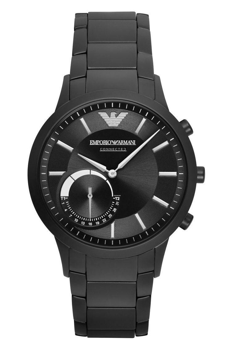 Emporio Armani Connected Hybrid Smartwatch Stainless Steel: Fits most wrist  sizes; Compatible with Android and iOS; Up to 6 months of battery life;