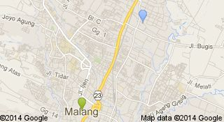 Peta tempat-tempat yang pernah ditinggali pengguna ini