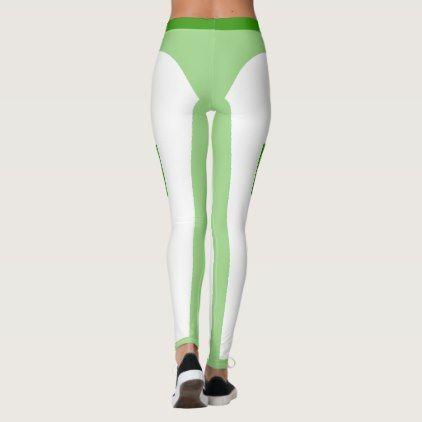 White legging with decals - Highlight body curves - yoga health design namaste mind body spirit