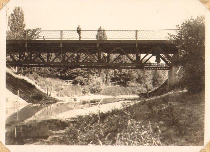 Bridge over Bear Creek, near our Petrolia home...