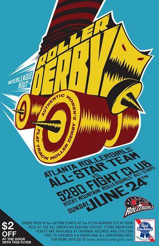 Roller Derby Monster-Skate by atlanta.rollergirls #poster