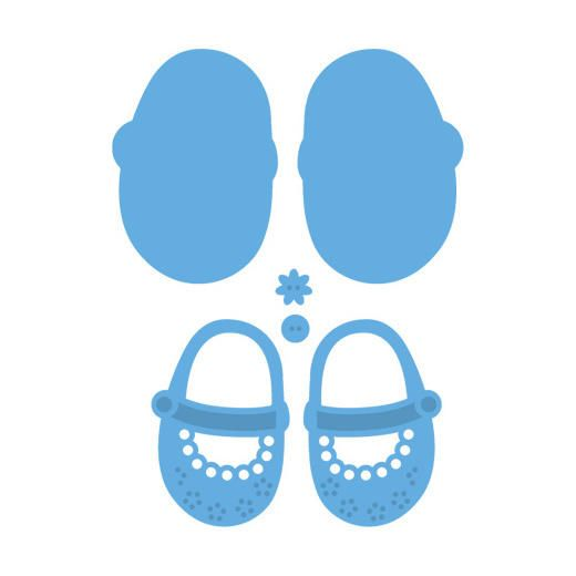 Marianne Design Creatables Dies - My First Shoes LR0303