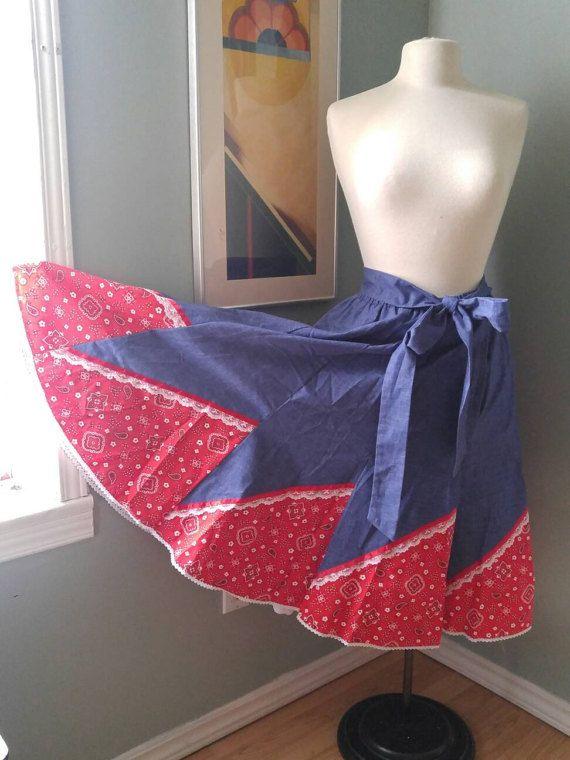 Carefree Fashion circle skirt light denim and by BumpedandBruised