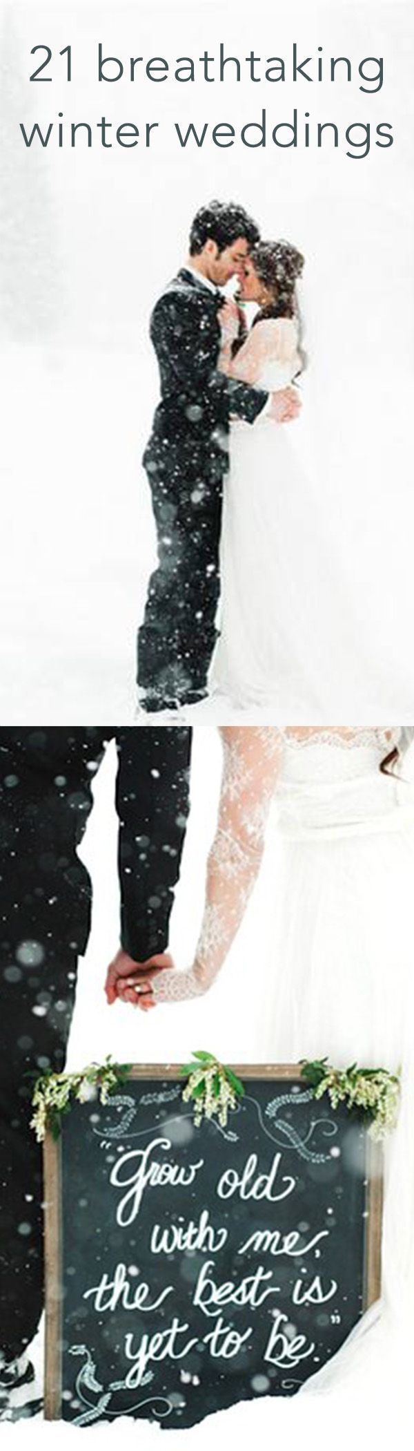 These photos prove that winter weddings can be gorgeous, despite subzero temps and snowy weather.