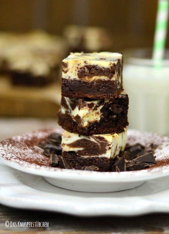 Schokoladenhunger: Cremige White Chocolate Marmor Brownies