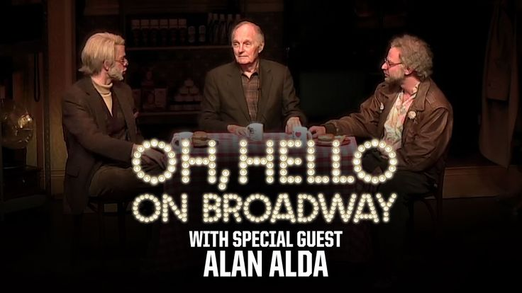 """Alan Alda joins Nick Kroll and John Mulaney on stage for their """"Oh hello"""" Broadway show"""