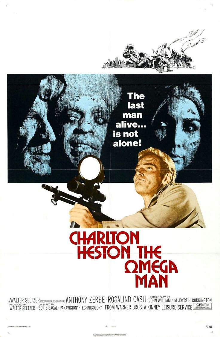 1975: Occhi bianchi sul pianeta Terra (The Omega Man) è un film di fantascienza del 1971 diretto da Boris Sagal. Il soggetto è tratto dal romanzofantascientifico post apocalittico di Richard Matheson Io sono leggenda (I Am Legend) del 1954.