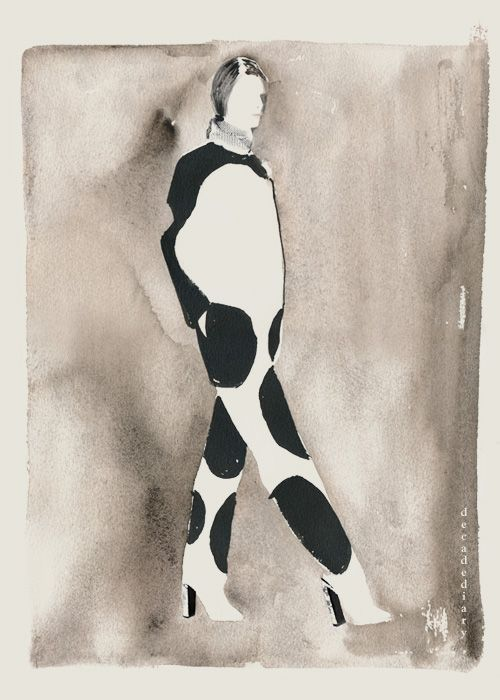 decadediary:New Fashion Illustration,  looking at Celine Resort 2013  15 x 11.25…