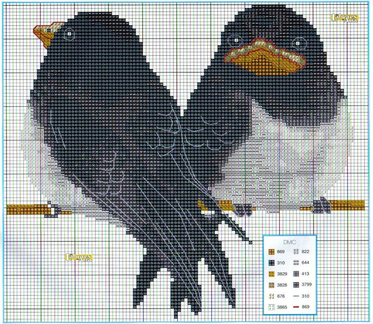 Cross Stitch *<3* Birds: