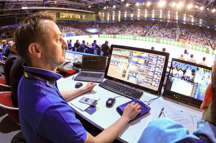 """#RIEDEL's MicroN in the middle of the action at the Handball World Championship in France! Sandro Glanzer (Project Manager at IHF 2017, Broadcast Solutions): """"We need to bring 12 synchronous HD-SDI signals to our server from the TV Compound and MicroN has been just perfect. The ability to route and synchronize internally makes the system the only choice for us. We use the MicroN's in all 7 venues – and everyone has been blown away the performance."""""""